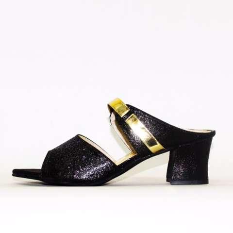 Marlee Mid Heels Sandal Wanita JN-05 Hitam
