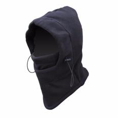 Masker Buff Balaclava Multifungsi Ninja Kupluk Polar 6 In 1 Full Face - Black