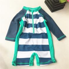 Mata Air Panas Pria Dan Anak-anak Bayi Lengan Panjang Baju Renang (1)