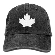 Men Women's Canada Maple Leaf Vintage Cotton Denim Baseball Cap Hat