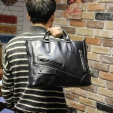 Mens Handbag Leather Briefcase Satchel Bag Business Casual Official Laptop Tote MSAQXR (Color:As First Picture)
