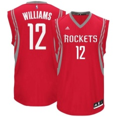 Mens NBA Houston Rockets Louis Williams #12 Basketball Jersey Team color High Quality Light Authentic Official Authentic Red - intl