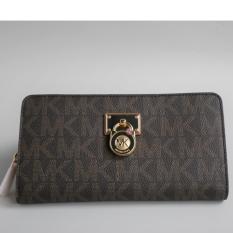 Michael Kors Hamilton Wallet Dompet Traveller Brown Authentic