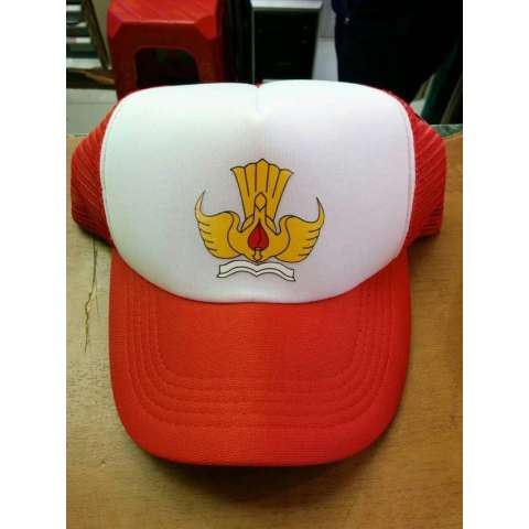 MICOSHOP - Topi Trucker Tut wuri handayani (Topi SD) - Merah putih