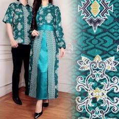Miracle Couple Gamis Longdress Batik Shanghai - Hijau