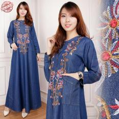 Miracle Dress Maxi Khalisa Gamis Jeans Longdress Wanita