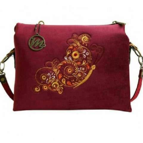 Mokamula Feeble Beautyco Nebula Tas Selempang Wanita Merah Maroon