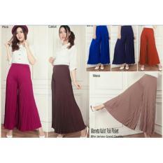 Moneta Kulot Rok Plisket-fashion wanita-celana modern-kulot murah-SB