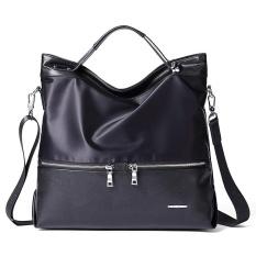 Montblanc (MANTOBRUCE) Mens Shoulder Bag Canvas Fashion Bisnis Kasual Pria Shoulder Oblique Cross Handbag M1164002 Hitam-Intl
