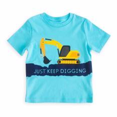 Moosca Tee Excavator Atasan Anak Laki-Laki - Turquoise
