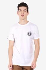 MOUTLEY Pakaian Atasan Kasual Kaos T-Shirt Pria Men Tshirt White Diskon discount murah bazaar baju celana fashion brand branded