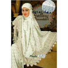 mukena velvet semi sutera putih Mukenah Sutera XV / Baju Gamis / Busana Muslim / Baju Muslim / Kebaya Modern / Hijab Muslim / Gamis / Syari / Hijab