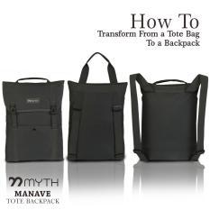 Tote Backpack MYTH Manave/ Tas Laptop 14-15 inch/ Tas Pria/ Tas Wanita/ Best Seller/ Tas Kerja/ Tas Kasual/ Tas Sekolah/ Tas Selempang Unik/ Map Besar/ Slim/ Tas Polos/ Tas Dinas/ Tas Abu/ Tas Guru/ Tas Buku Besar/ Ransel/ Daypack/ Backpack/ Messenger Bag