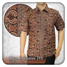 Nandhut-Kemeja Batik pria Lengan pendek- coklat
