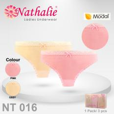 Nathalie 3 Pcs Celana Dalam Wanita Dewasa NT 016. Rp 76.90055% Rp 34.605.