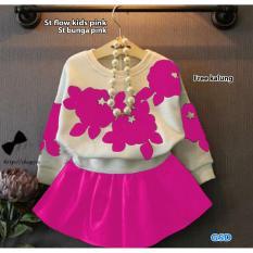 NCR - Baju Setelan Rok Anak / Set Bunga Pink