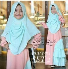 Newone shop gamis syari kid / gamis anak / baju muslim anak / maxi dress