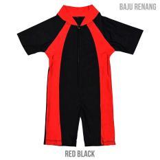 Nice Baby Baju Renang Bayi Red Black Uk XL