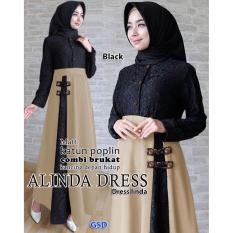 Nicer-Gamis Syari Simple Elegant-Maxi Linda Black