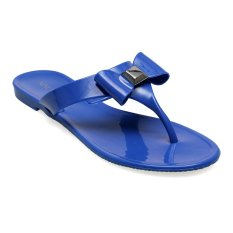 Nine West Forgivme Flat Sandal - Biru