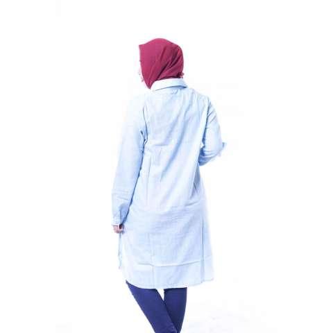 Ning Ayu Baju Hamil Modis Dress Belle Rossy Katun Full Kancing - BLJ 399 Hijau 2