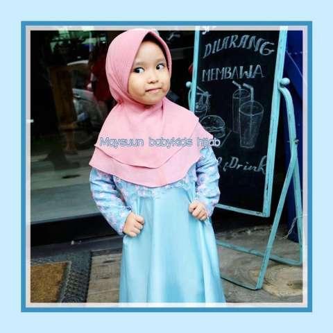 Beli No Wa O81233176o35 Gamis Pesta Anak Bahan Brokat Baju Muslim