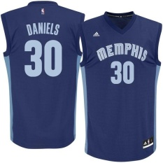 Number 30 Troy Daniels Memphis Grizzlies Men's NBA Basketball Jersey Soft Adult Light Top Outdoor Set Team color Size L