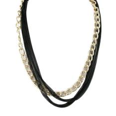 Ofashion Aksesoris Kalung XX-CA-1702K020 Modern Necklace Accessories Panjang 54 Cm - Emas Hitam