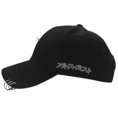 Oh New Streetnovelty katun unisex cincin lenja tandai melengkung baseball cap topi hip-hop Hitam dengan 3 ring