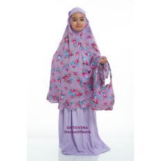 Oktovina-HouseOfBatik Mukena Anak Rayon – Kids MAR-1E – Grape / Mukena / Mukena Anak / Mukena dan Sarung Santung / Perlengkapan Shalat