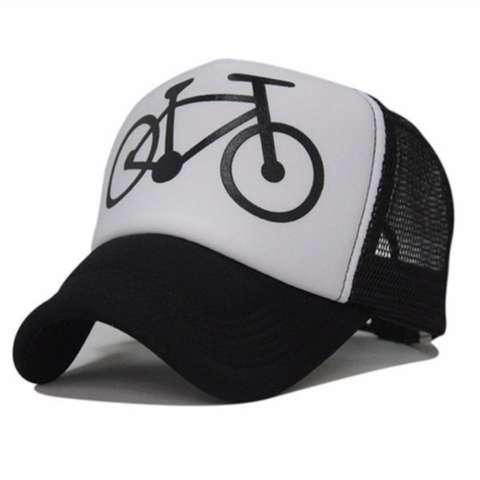 ONE TSHIRT TOPI TRUCKER BMX - PUTIH HITAM