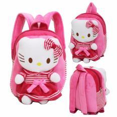 Onlan Tas Ransel Anak Boneka Pita Bahan Halus Lembut Ukuran Paut - Pink