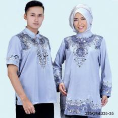 Original Azzurra  Jual Dress Muslimah Couple Wanita 335-35  Warna : Abu  Terbuat dari Bahan : Kelly