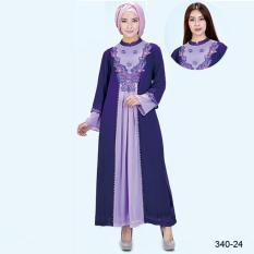 Original Azzurra  Jual Gamis Muslimah Casual Wanita 340-24  Warna : Ungu  Terbuat dari Bahan : Hicone