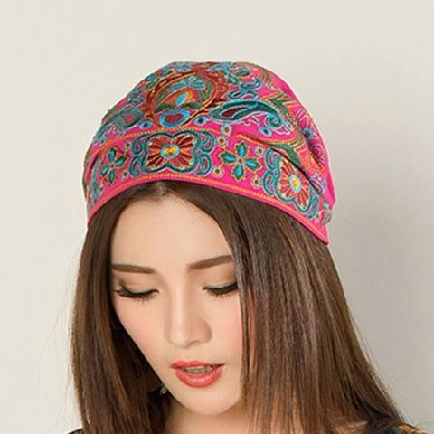 Balap Asli Breeze Bordir Bunga Topi Di Yunnan Menghidupkan Kebiasaan Lama Cina Breeze YANG BAGUS Jilbab-Internasional 3