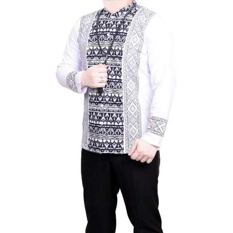 Ormano Baju Koko Muslim Batik Lengan Panjang Lebaran Hari Raya Pengajian ZO17 KK105 Kemeja Fashion Pria
