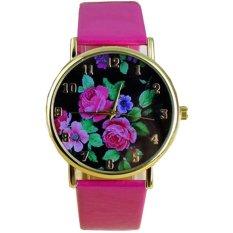 Ormano Fashion - Jam Tangan Wanita - Pink - Faux Leather - Classic Rose Watch