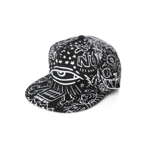 Ormano Topi Baseball Snapback Cap Hip Hop Graffiti - Hitam