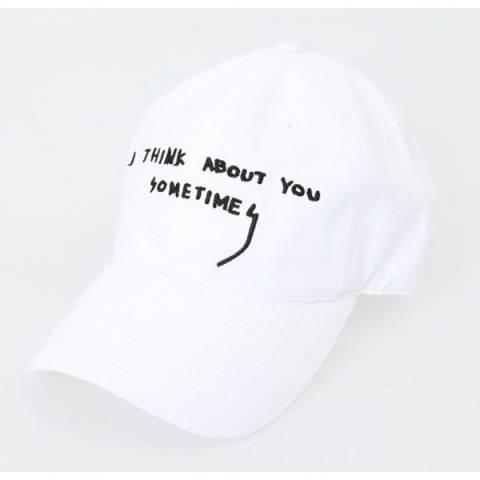 Ormano Topi Baseball Snapback Cap Korean Hip Hop I Think About You Cap - Putih