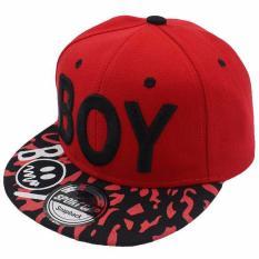 Ormano Topi Snapback Anak Boy Corak s7124 - Red