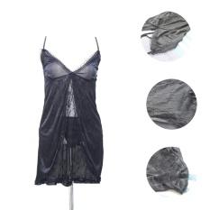 Ovila HRS Lingerie Babydoll Sexy Baju Tidur -Hitam-