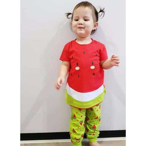 Pajamas Watermelon Dessan Lengan Pendek 1