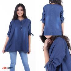 Pakaian Atasan Wanita - Fashionable - Kemeja Jeans Wanita  - JSK 3319