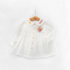 Pakaian Luar Anak Perempuan Kecil Rok Gadis Gaun (Putih)