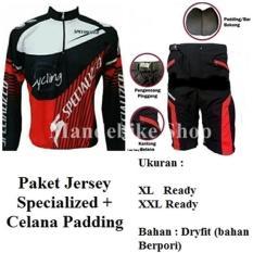 Paket Baju Jersey Sepeda dan Celana Berpadding Busa