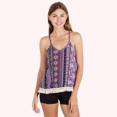 PALM ETHNIC LACE TANK TOP-5301040512010506601