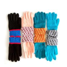 Paroparoshop COLORFULL GLOVES - Blue List Black