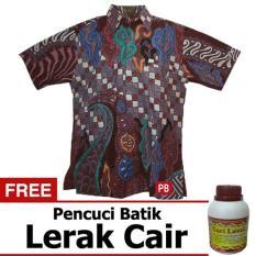 Pasar Beringharjo Fashion Baju Kemeja Hem Atasan Katun Batik Pria Dewasa Kerja Kantor Kasual - Non Seragam Sarimbit Couple Keluarga Murah - Lengan Pendek - Terbaru Modern - Muslim Furing Ikam M