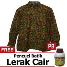 Pasar Beringharjo Fashion Baju Kemeja Hem Atasan Katun Batik Pria Dewasa Kerja Kantor Kasual - Seragam Sarimbit Couple Keluarga Murah - Lengan Pendek Furing - Terbaru Modern - Muslim Colet Safik 1
