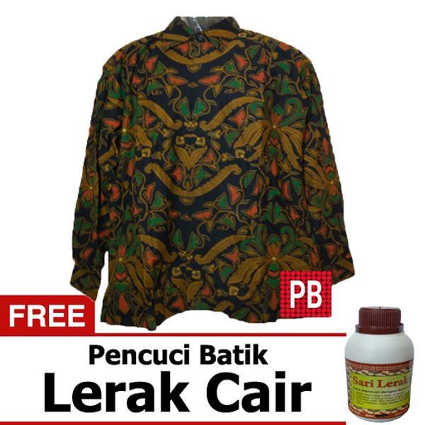 Pasar Beringharjo Fashion Baju Kemeja Hem Atasan Katun Batik Pria Dewasa  Kerja Kantor Kasual - Seragam 402ff12f44